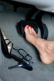 Οδήγηση ποδιών Στοκ Φωτογραφία