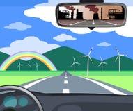 Οδήγηση προς το μέλλον στοκ εικόνα