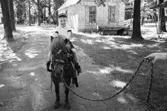 Οδήγηση πλατών αλόγου Στοκ φωτογραφία με δικαίωμα ελεύθερης χρήσης