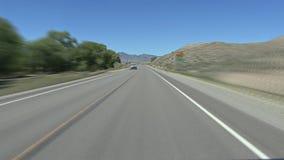 Οδήγηση στην εθνική οδό απόθεμα βίντεο