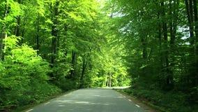 Οδήγηση στη εθνική οδό απόθεμα βίντεο