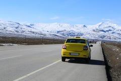 Οδήγηση ταξί για να τοποθετήσει Ararat Στοκ Εικόνα