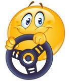 Οδήγηση emoticon Στοκ Φωτογραφίες