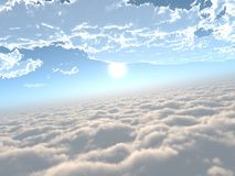 Ο ήλιος είναι στα σύννεφα, Στοκ φωτογραφία με δικαίωμα ελεύθερης χρήσης
