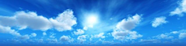 Ο ήλιος είναι στα σύννεφα, Στοκ Εικόνα