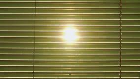 Ο ήλιος λάμπει μέσω της κινηματογράφησης σε πρώτο πλάνο τυφλών φιλμ μικρού μήκους