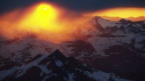 Ο ήλιος μεσάνυχτων στην Αρκτική απόθεμα βίντεο