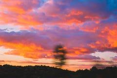 Τα κόκκινα σύννεφα στοκ φωτογραφίες