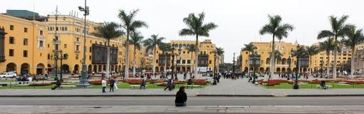 Δήμαρχος Plaza (στο παρελθόν, Plaza de Armas) της Λίμα, Περού Στοκ φωτογραφίες με δικαίωμα ελεύθερης χρήσης