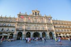 Ο δήμαρχος Plaza σε Σαλαμάνκα, Ισπανία Στοκ φωτογραφίες με δικαίωμα ελεύθερης χρήσης