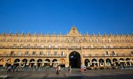 Ο δήμαρχος Plaza σε Σαλαμάνκα, Ισπανία Στοκ Εικόνες