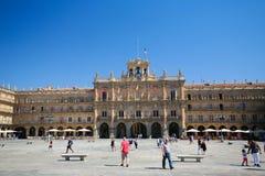 Ο δήμαρχος Plaza σε Σαλαμάνκα, Ισπανία Στοκ εικόνες με δικαίωμα ελεύθερης χρήσης