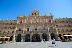 Ο δήμαρχος Plaza σε Σαλαμάνκα, Ισπανία Στοκ φωτογραφία με δικαίωμα ελεύθερης χρήσης