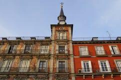 Ο δήμαρχος Plaza στη Μαδρίτη Στοκ Εικόνες