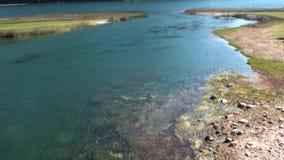 Ο ήρεμος ήρεμος ποταμός βουνών παρουσιάζει στην Παταγωνία Αργεντινή φιλμ μικρού μήκους
