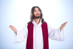 Ο ήρεμος Ιησούς με τις ανοικτές αγκάλες Στοκ Φωτογραφία