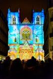 Ο ήχος και το φως Λ ` Odyssée des Rêves παρουσιάζουν στη Νάντη Στοκ εικόνα με δικαίωμα ελεύθερης χρήσης