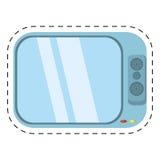 ο ήχος κινηματογράφων τηλεοπτικών καναλιών έκοψε τη γραμμή Στοκ Φωτογραφία