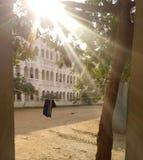 Ο ήλιος λάμπει ακτίνες Στοκ εικόνες με δικαίωμα ελεύθερης χρήσης