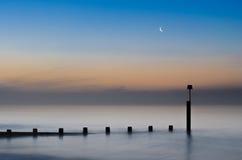Η ανατολή χαιρετά το φεγγάρι Στοκ εικόνα με δικαίωμα ελεύθερης χρήσης