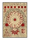 Ο ήλιος Η κάρτα tarot διανυσματική απεικόνιση