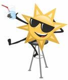 Ο ήλιος κρατά ένα γυαλί Στοκ εικόνα με δικαίωμα ελεύθερης χρήσης