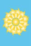 Ήλιος αφαίρεση του μπλε ουρανού Στοκ Εικόνες