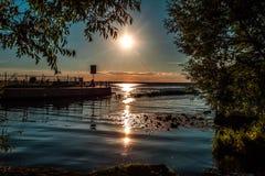 Ο ήλιος σύρει μια πορεία Στοκ φωτογραφίες με δικαίωμα ελεύθερης χρήσης