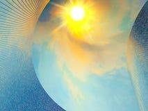 Ο ήλιος φωτίζει μια κυρτή επιφάνεια απεικόνιση αποθεμάτων