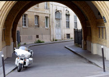 Ολίσθηση του Harley Davidson Electra στοκ φωτογραφίες