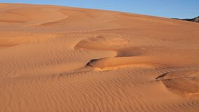 Ο αέρας έχει διαμορφώσει τα σχέδια κυματισμών στην άμμο κρατικό πάρκο αμμόλοφων άμμου κοραλλιών στο ρόδινο στη Γιούτα στοκ εικόνα