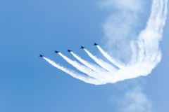 Ο αέρας και το νερό του Σικάγου παρουσιάζουν, αμερικανικοί μπλε ναυτικοί άγγελοι Στοκ φωτογραφίες με δικαίωμα ελεύθερης χρήσης