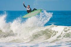 ο αέρας μεγάλος παίρνει surfer Στοκ Εικόνα