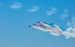 Ο αέρας παρουσιάζει αεριωθούμενα αεροπλάνα Στοκ Εικόνα