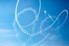 Ο αέρας παρουσιάζει αερολιμένα Μολδαβία Chisinau Στοκ Φωτογραφίες