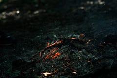 Ο αέρας φυσά στους άνθρακες στοκ φωτογραφίες