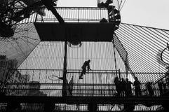 Ο λαβύρινθος σιδήρου Στοκ εικόνες με δικαίωμα ελεύθερης χρήσης