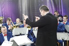Ο αγωγός της ορχήστρας στοκ φωτογραφίες