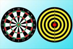 Ο αγωνιστικός χώρος του dartboard με δύο πλευρές ελεύθερη απεικόνιση δικαιώματος