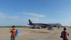 Ο αερολιμένας σε Siem συγκεντρώνει την Καμπότζη Στοκ φωτογραφία με δικαίωμα ελεύθερης χρήσης