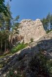 Ο αετός αδύτων Thracian λικνίζει κοντά στην πόλη Ardino στο βουνό Rhodopes, Βουλγαρία Στοκ εικόνες με δικαίωμα ελεύθερης χρήσης