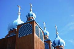 Ο αθώος ρωσικός ορθόδοξος καθεδρικός ναός του ST στο Anchorage, Αλάσκα στοκ εικόνες