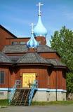 Ο αθώος ρωσικός ορθόδοξος καθεδρικός ναός του ST στο Anchorage, Αλάσκα στοκ φωτογραφίες