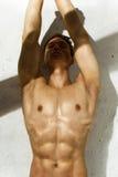 Ο αθλητής εκπαιδεύει στον ήλιο Στοκ εικόνα με δικαίωμα ελεύθερης χρήσης