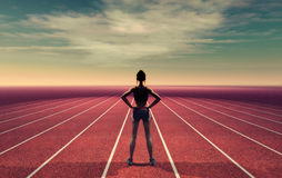 Ο αθλητής στο διάδρομο Στοκ φωτογραφίες με δικαίωμα ελεύθερης χρήσης