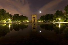 Ο αιγυπτιακός ναός Debod στη Μαδρίτη Στοκ Εικόνες