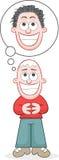 Ο αισιόδοξος καλλιεργητής τρίχας θα δώσει ένα τριχωτό κεφάλι Στοκ Εικόνα