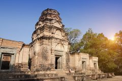 Ο αιώνας ναών ruins12th σε Angkor Wat, Siem συγκεντρώνει, Καμπότζη Στοκ Φωτογραφίες