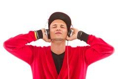 ο ακούοντας κύριος music του DJ Στοκ φωτογραφία με δικαίωμα ελεύθερης χρήσης