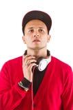 ο ακούοντας κύριος music του DJ Στοκ Εικόνα